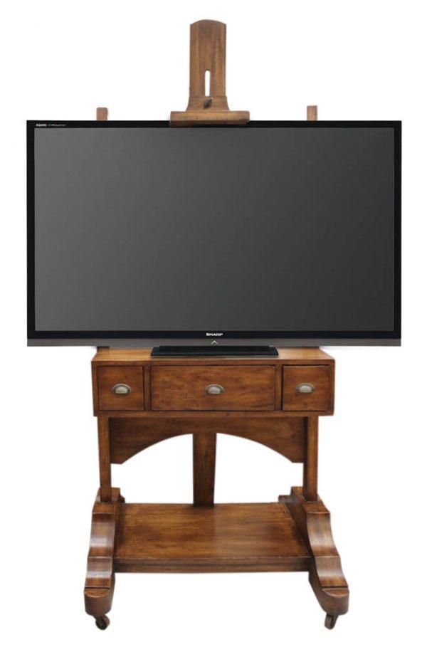 Soporte de madera para pantalla plana